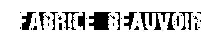 Grand Logo Fabrice Beauvoir blanc